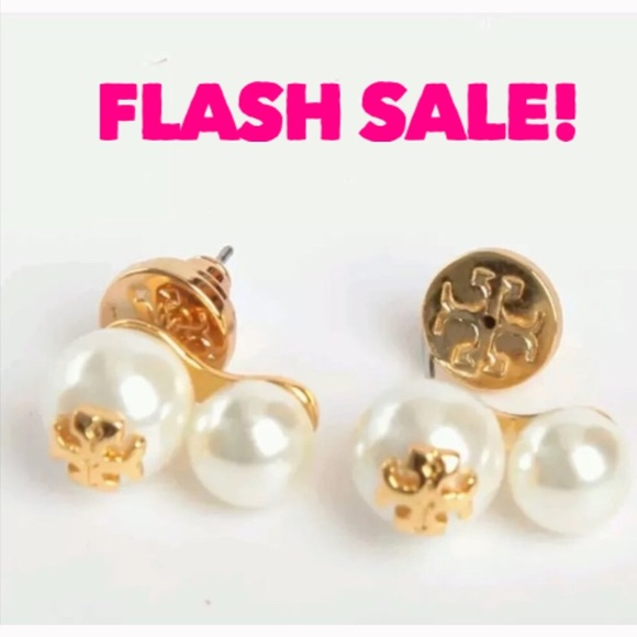 390e94163 Tory Burch Jewelry | New Evie Double Pearl Earrings | Poshmark